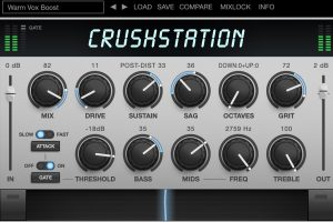 CrushStation Overdrive/Distortion Plug-in from Eventide