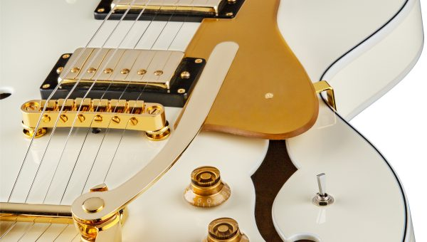 Dean Guitars Unveils Colt Bigsby with Piezo in Vintage White