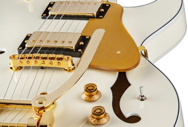 Dean Guitars Unveils Colt Bigsby with Piezo in Vintage White